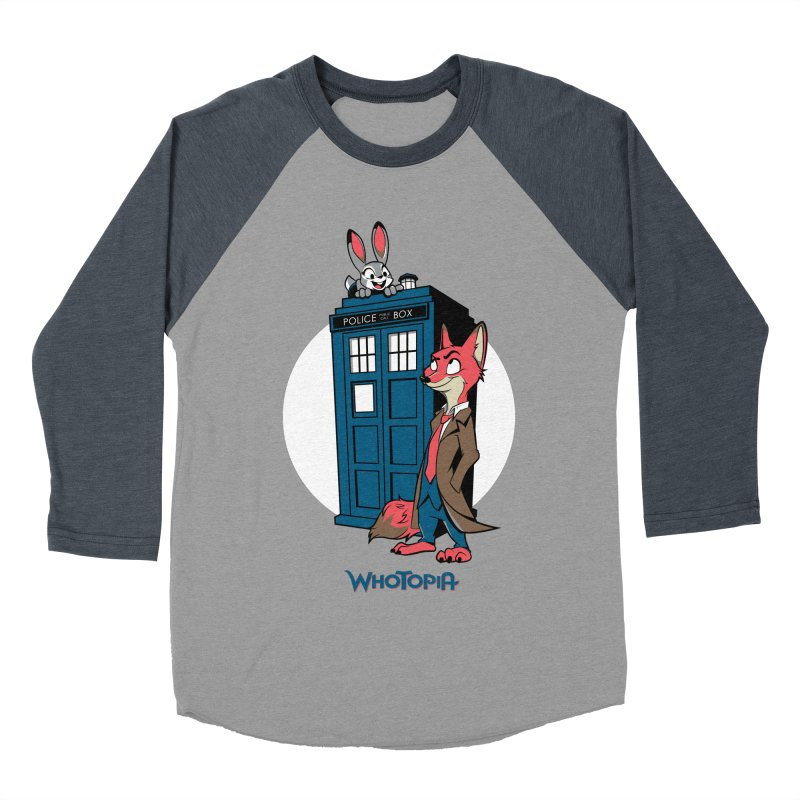 Whotopia Men's Baseball Triblend T-Shirt by foureyedesign's shop