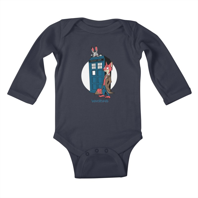 Whotopia Kids Baby Longsleeve Bodysuit by foureyedesign's shop
