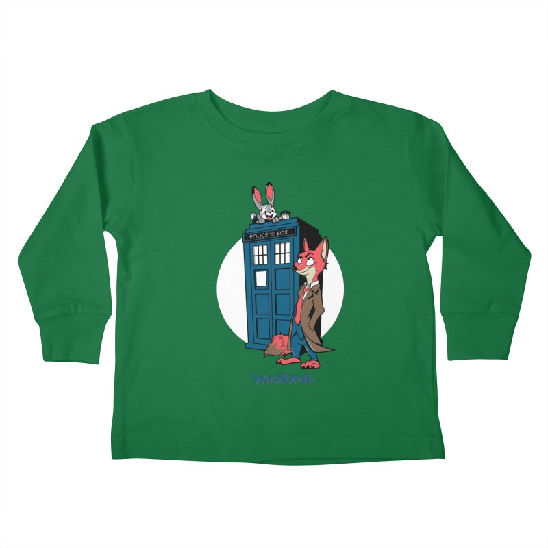 Whotopia Kids Toddler Longsleeve T-Shirt by foureyedesign's shop