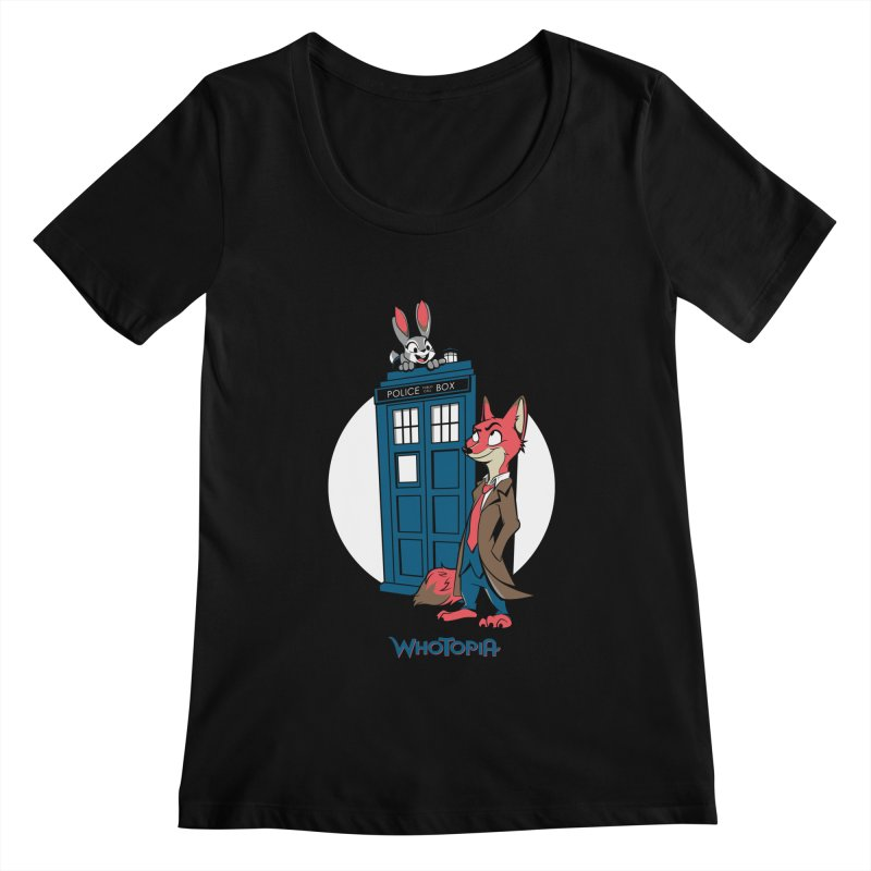 Whotopia Women's Scoopneck by foureyedesign's shop