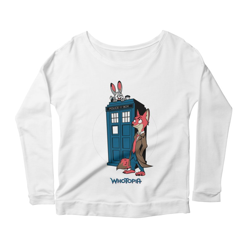 Whotopia Women's Scoop Neck Longsleeve T-Shirt by foureyedesign's shop