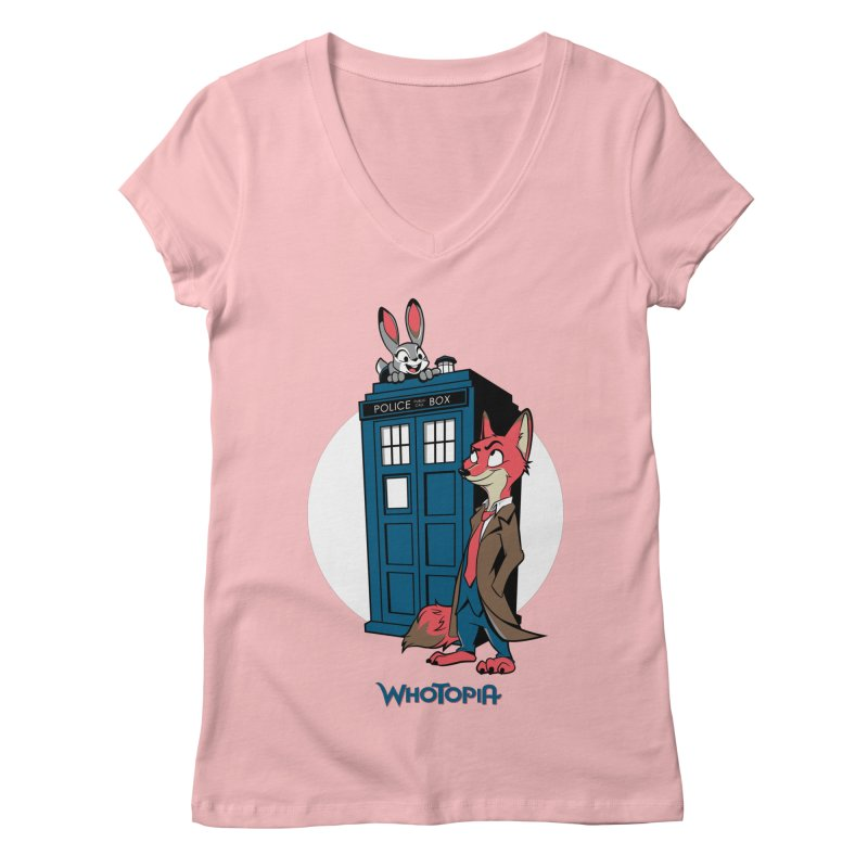 Whotopia Women's V-Neck by foureyedesign's shop