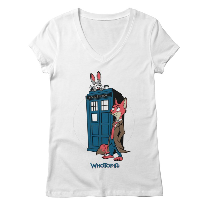 Whotopia Women's Regular V-Neck by foureyedesign's shop