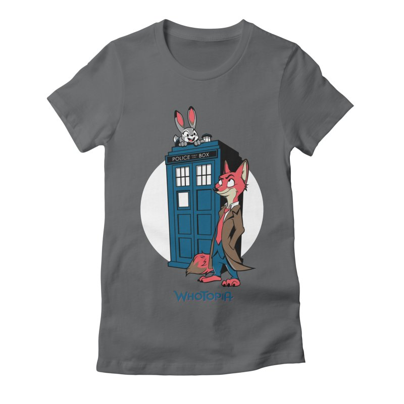 Whotopia Women's Fitted T-Shirt by foureyedesign's shop