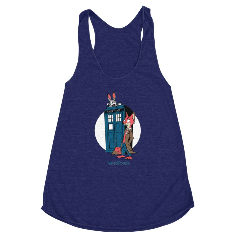 Whotopia Women's Racerback Triblend Tank by foureyedesign's shop