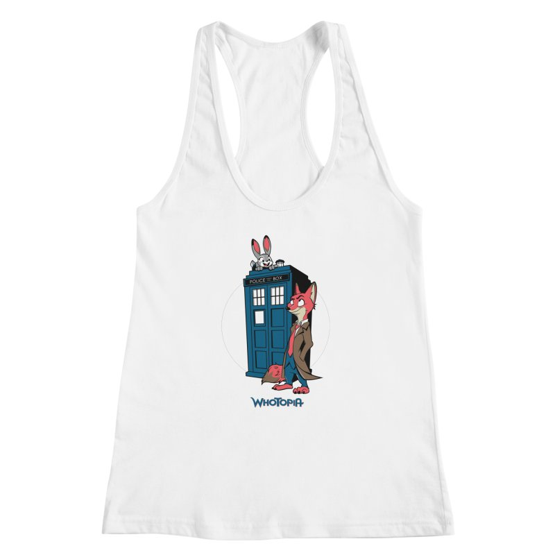 Whotopia Women's Racerback Tank by foureyedesign's shop