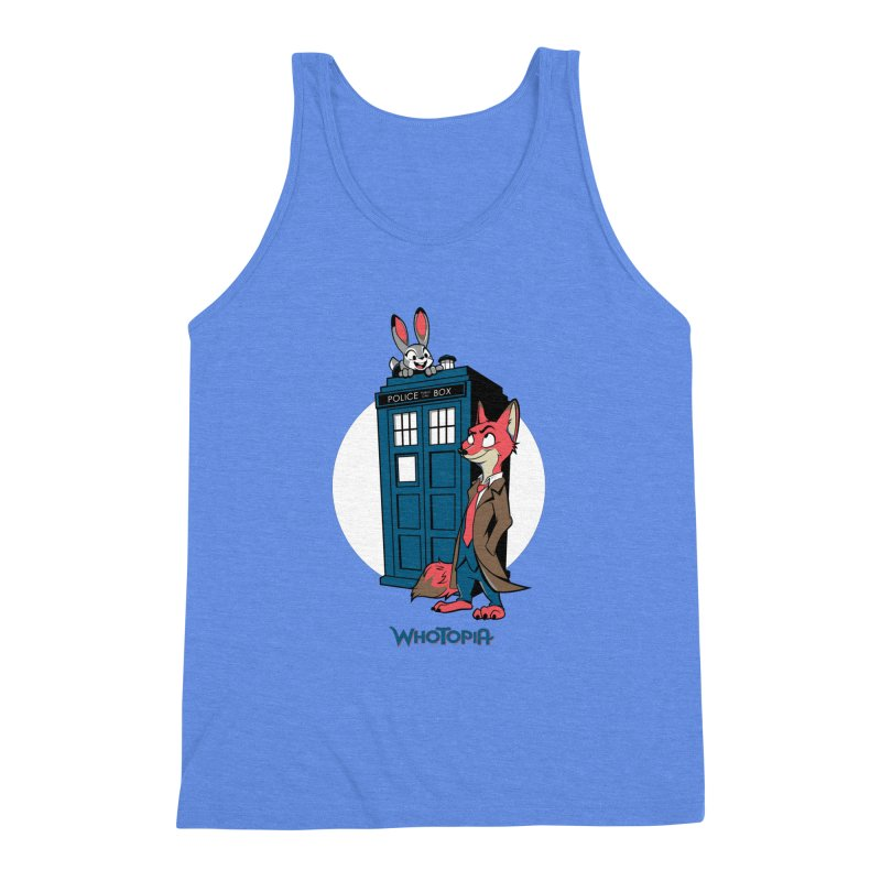 Whotopia Men's Triblend Tank by foureyedesign's shop