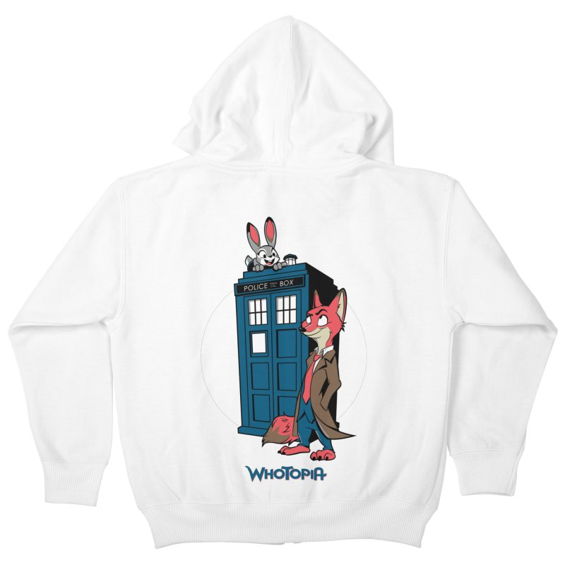 Whotopia Kids Zip-Up Hoody by foureyedesign's shop