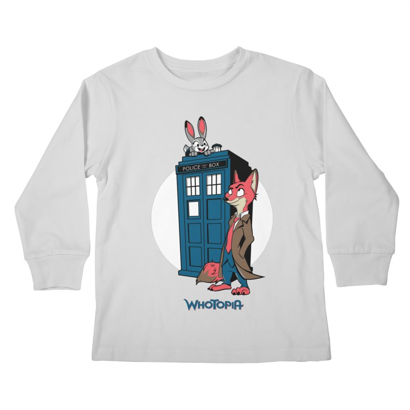 Whotopia Kids Longsleeve T-Shirt by foureyedesign's shop