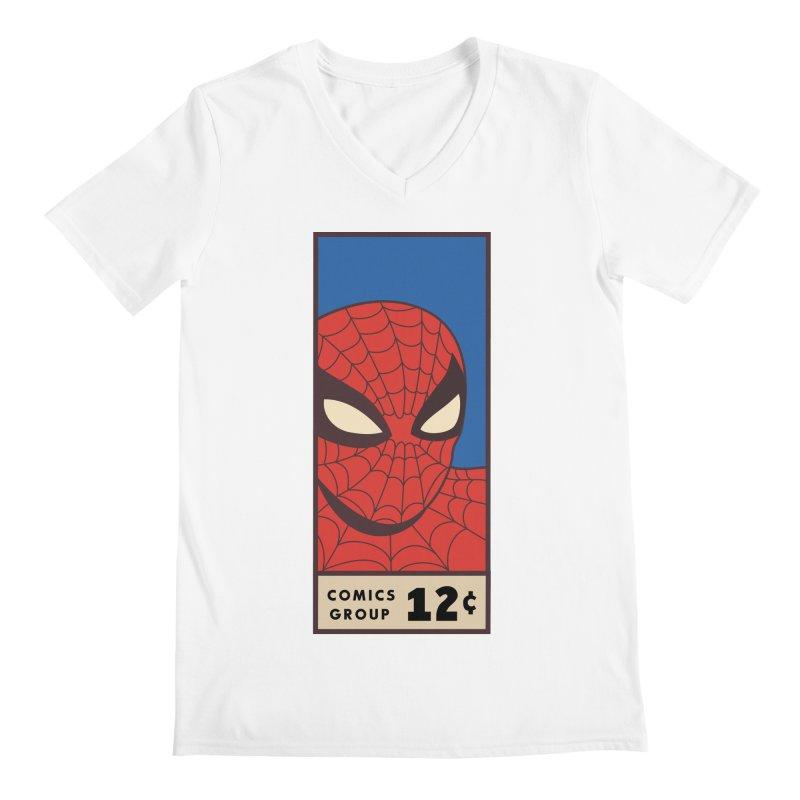 Spidey Comic Banner 1 Men's V-Neck by foureyedesign shop