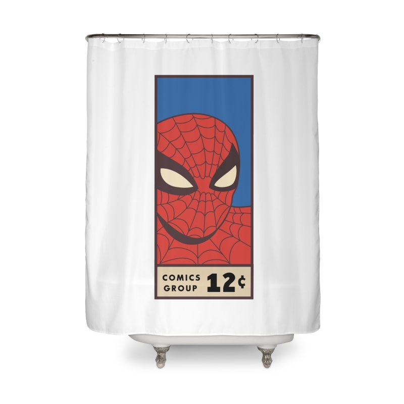 Spidey Comic Banner 1 Home Shower Curtain by foureyedesign shop