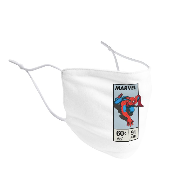 Spidey Comic Banner 2 Accessories Face Mask by foureyedesign shop