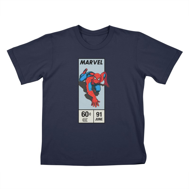 Spidey Comic Banner 2 Kids T-Shirt by foureyedesign shop