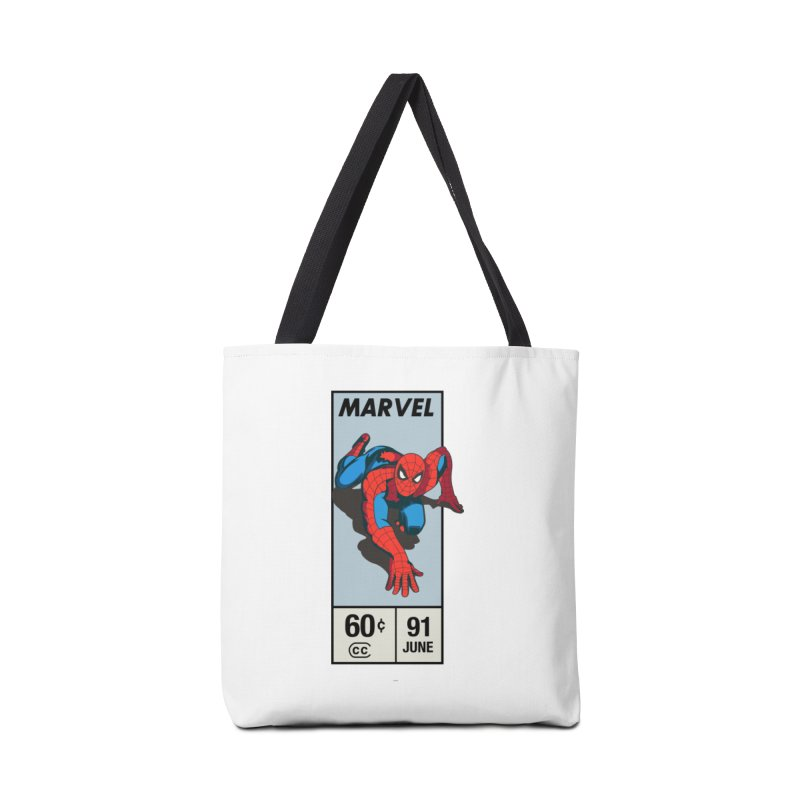 Spidey Comic Banner 2 Accessories Bag by foureyedesign shop