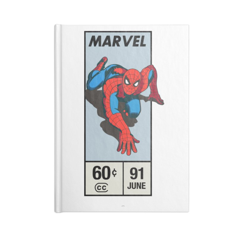 Spidey Comic Banner 2 Accessories Notebook by foureyedesign shop