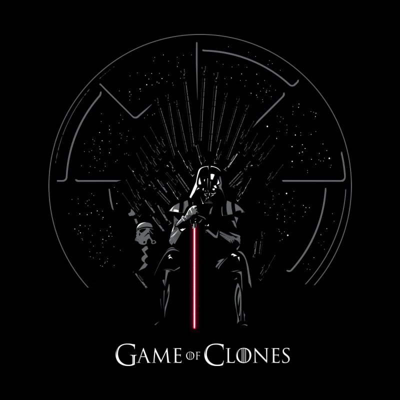 Game of Clones Kids T-Shirt by foureyedesign shop