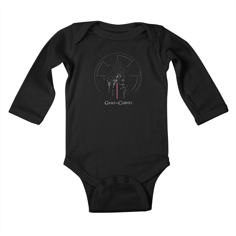 Game of Clones Kids Baby Longsleeve Bodysuit by foureyedesign's shop