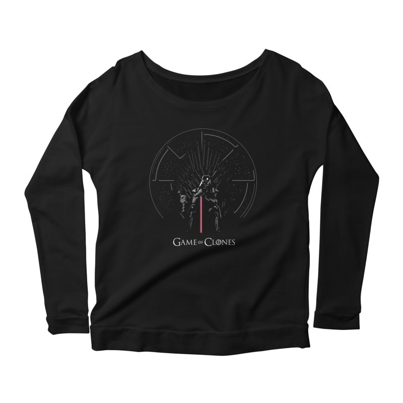 Game of Clones Women's Longsleeve Scoopneck  by foureyedesign's shop