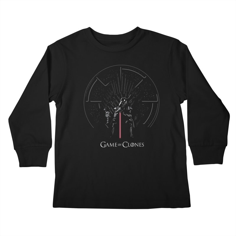Game of Clones Kids Longsleeve T-Shirt by foureyedesign's shop