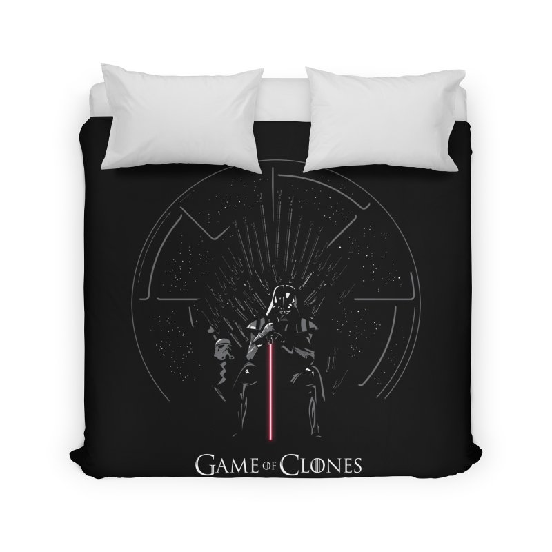 Game of Clones Home Duvet by foureyedesign's shop