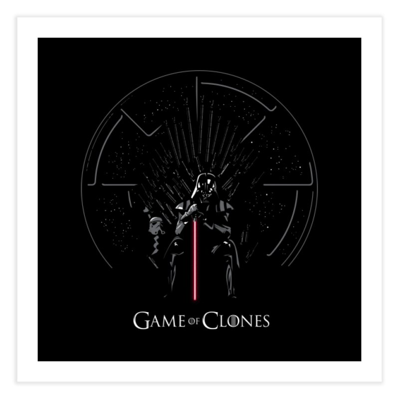 Game of Clones Home Fine Art Print by foureyedesign's shop
