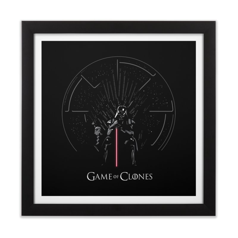 Game of Clones Home Framed Fine Art Print by foureyedesign's shop