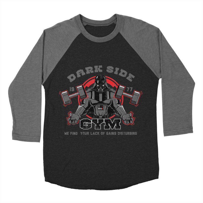 Dark Side Gym Men's Baseball Triblend T-Shirt by foureyedesign's shop
