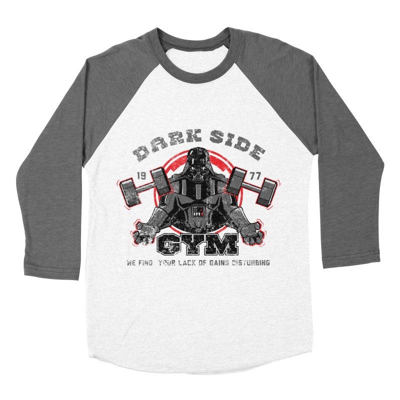 Dark Side Gym Men's Baseball Triblend T-Shirt by foureyedesign's shop
