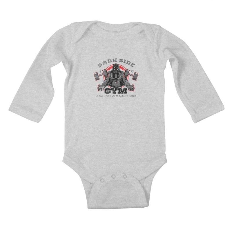 Dark Side Gym Kids Baby Longsleeve Bodysuit by foureyedesign's shop