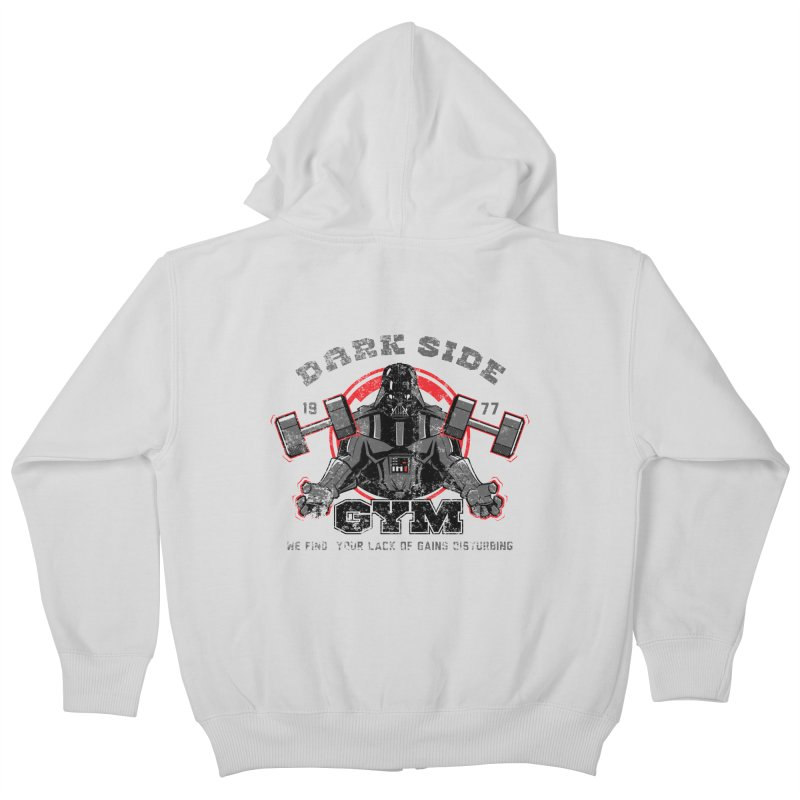 Dark Side Gym Kids Zip-Up Hoody by foureyedesign's shop