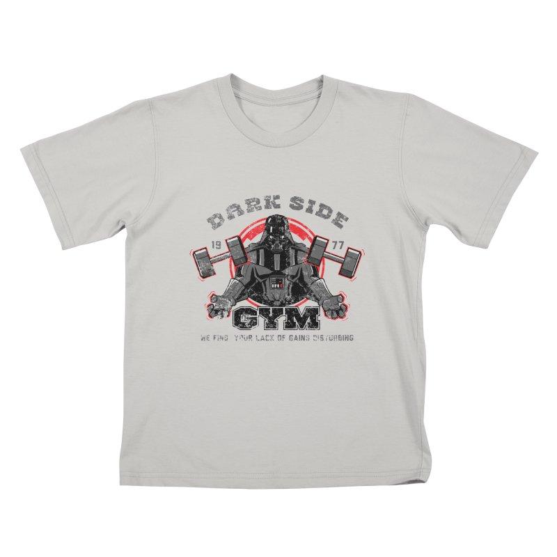 Dark Side Gym Kids T-shirt by foureyedesign's shop