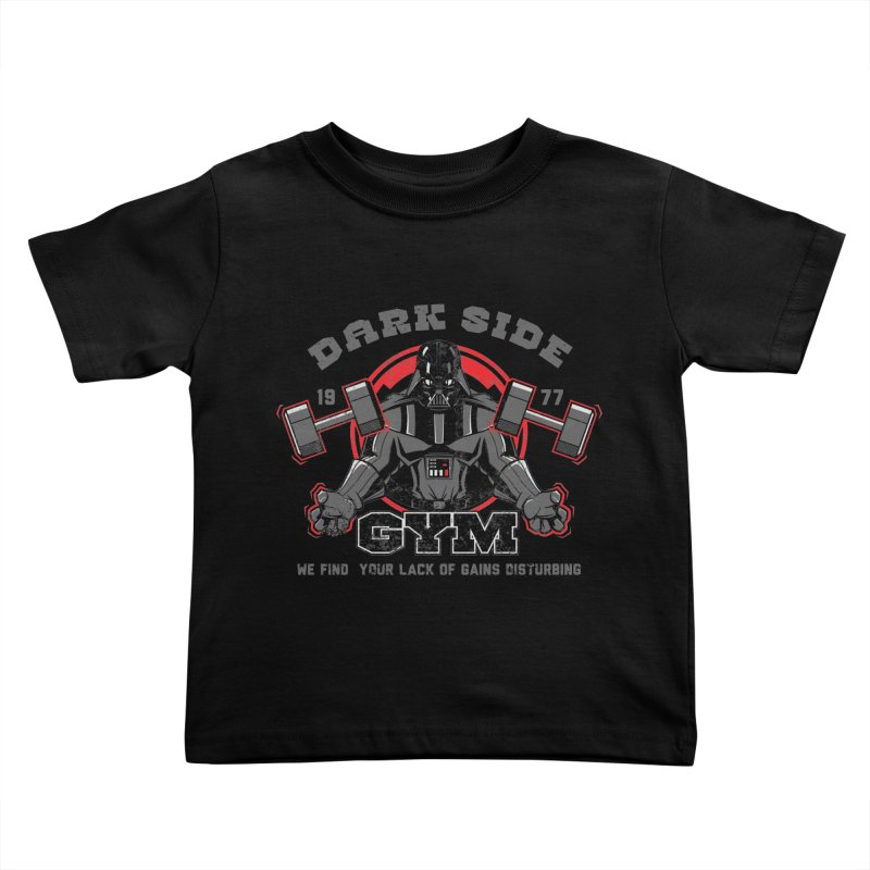 Dark Side Gym Kids Toddler T-Shirt by foureyedesign shop