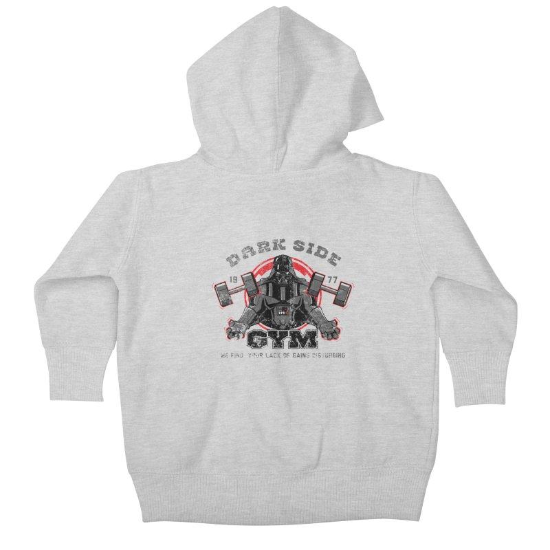 Dark Side Gym Kids Baby Zip-Up Hoody by foureyedesign's shop