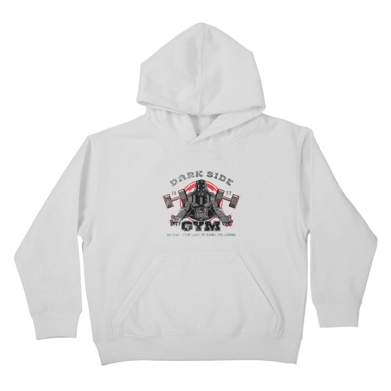 Dark Side Gym Kids Pullover Hoody by foureyedesign's shop