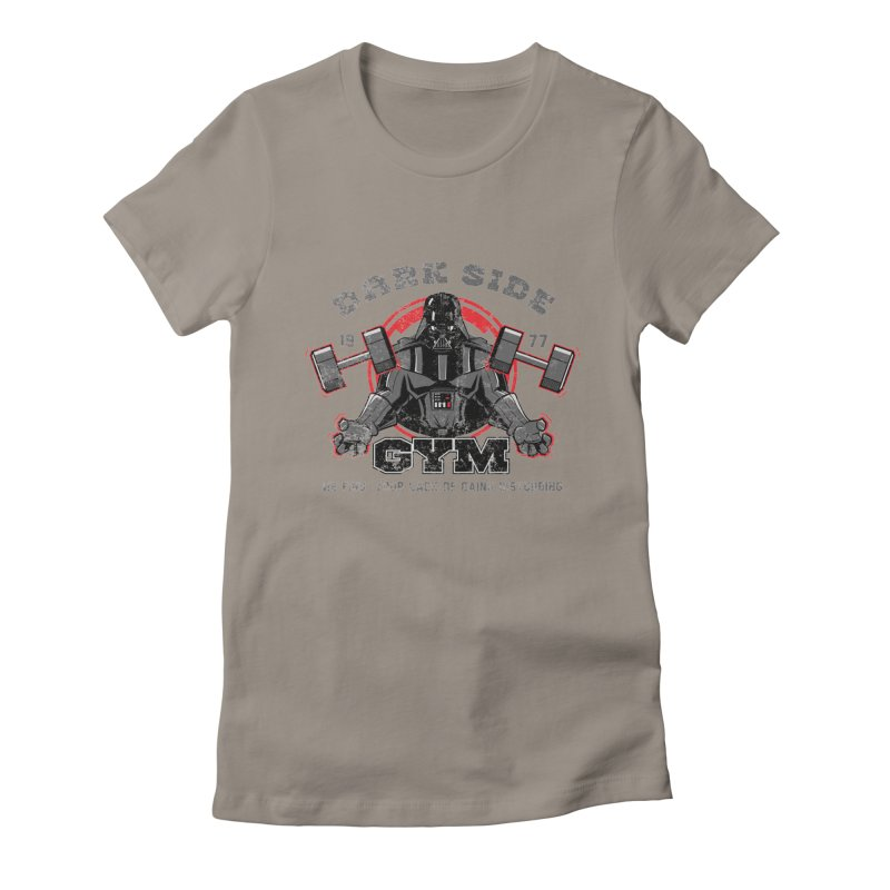 Dark Side Gym Women's Fitted T-Shirt by foureyedesign's shop