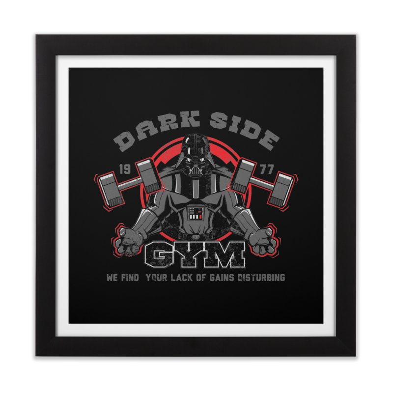 Dark Side Gym Home Framed Fine Art Print by foureyedesign's shop