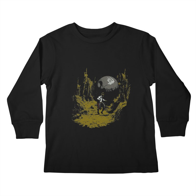 Raiders of the Galactic Empire Kids Longsleeve T-Shirt by foureyedesign's shop