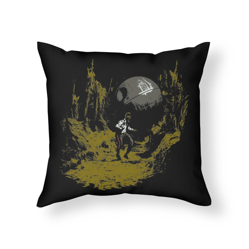 Raiders of the Galactic Empire Home Throw Pillow by foureyedesign's shop