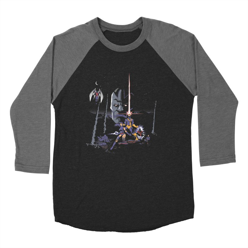 Mutant Wars Apocalypse  Men's Baseball Triblend Longsleeve T-Shirt by foureyedesign's shop