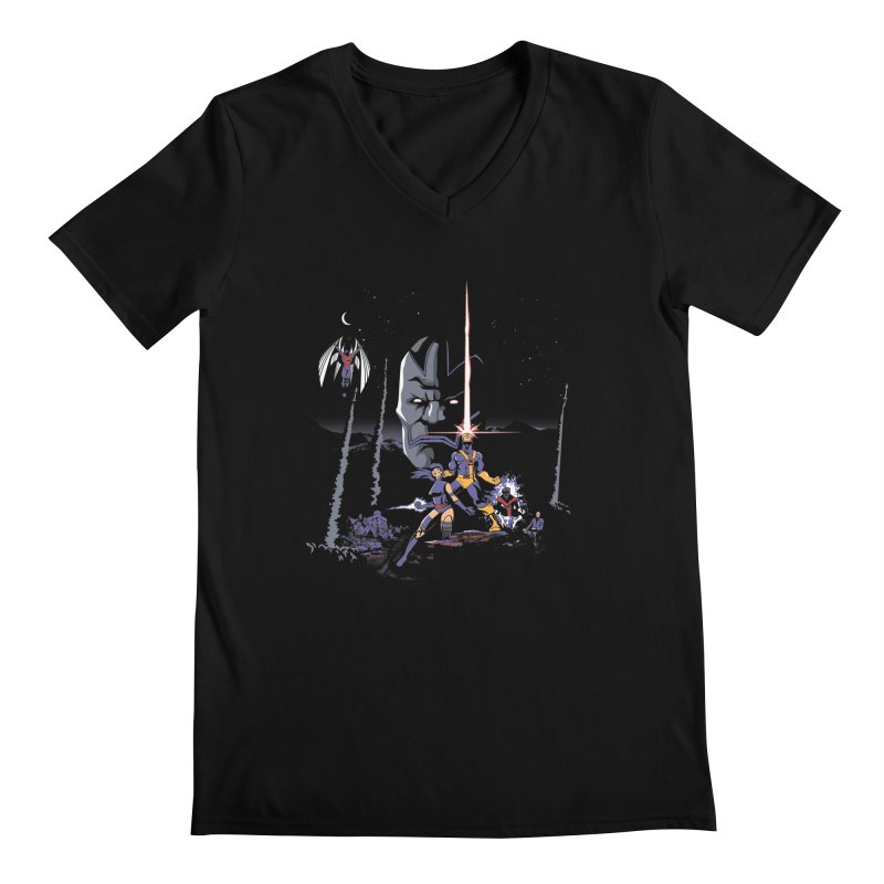 Mutant Wars Apocalypse  Men's V-Neck by foureyedesign's shop