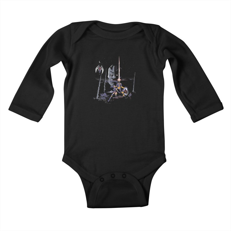 Mutant Wars Apocalypse  Kids Baby Longsleeve Bodysuit by foureyedesign's shop