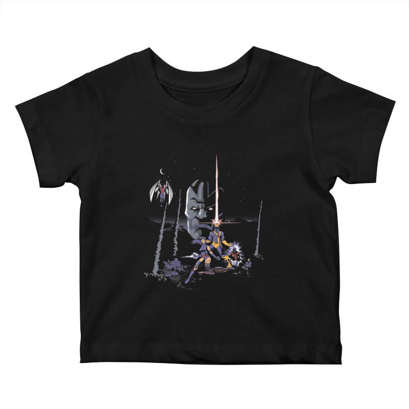 Mutant Wars Apocalypse  Kids Baby T-Shirt by foureyedesign's shop