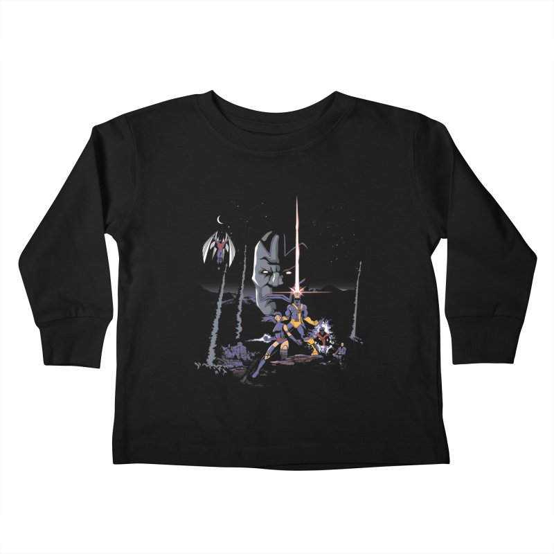 Mutant Wars Apocalypse  Kids Toddler Longsleeve T-Shirt by foureyedesign's shop