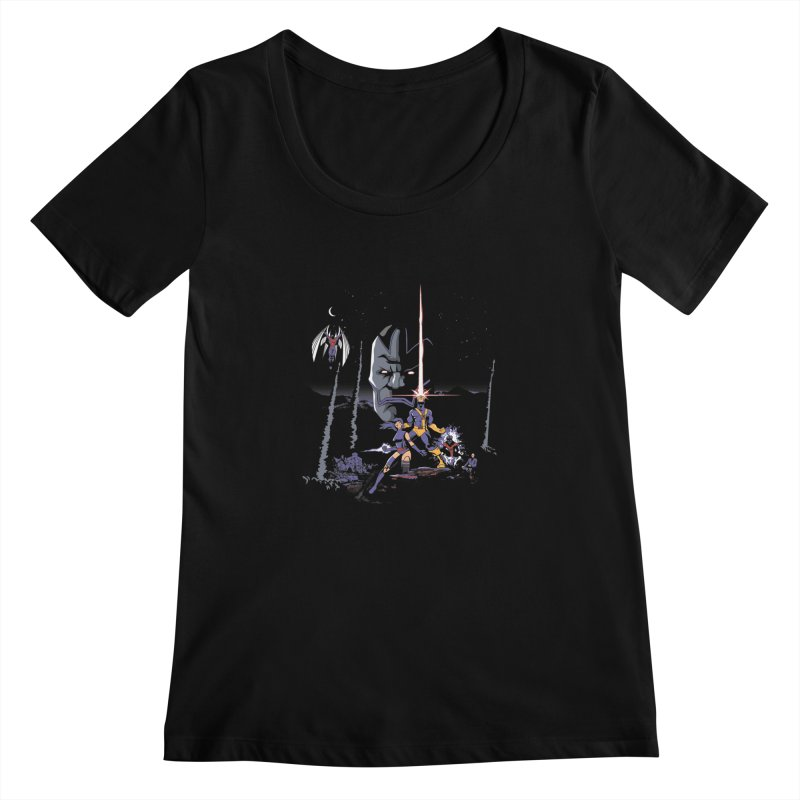 Mutant Wars Apocalypse  Women's Scoopneck by foureyedesign's shop