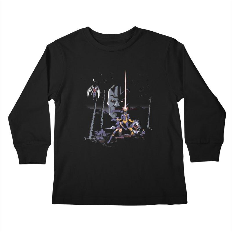 Mutant Wars Apocalypse  Kids Longsleeve T-Shirt by foureyedesign's shop