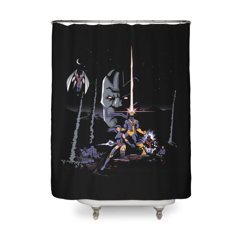 Mutant Wars Apocalypse  Home Shower Curtain by foureyedesign shop