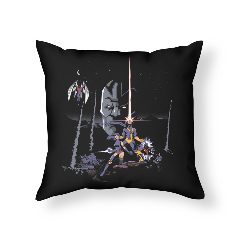 Mutant Wars Apocalypse  Home Throw Pillow by foureyedesign's shop