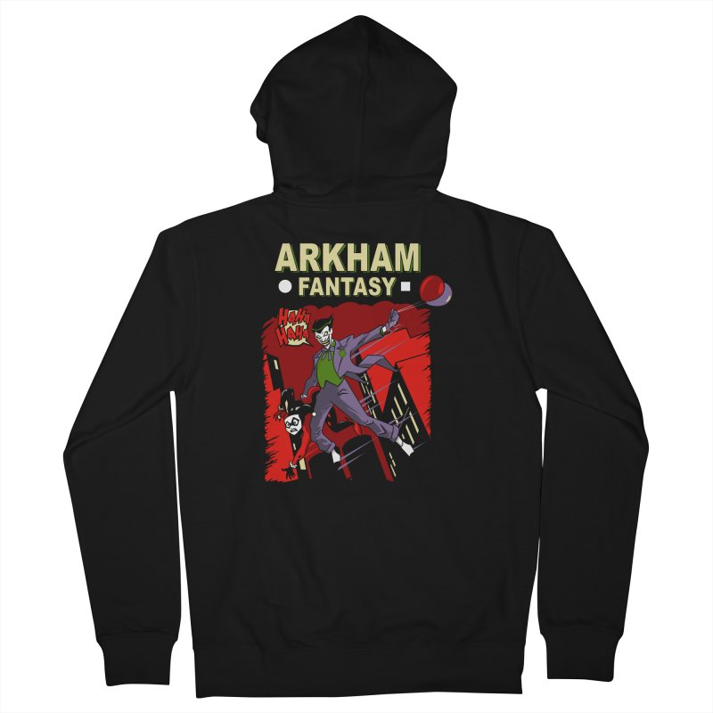 Arkham Fantasy  Men's Zip-Up Hoody by foureyedesign's shop