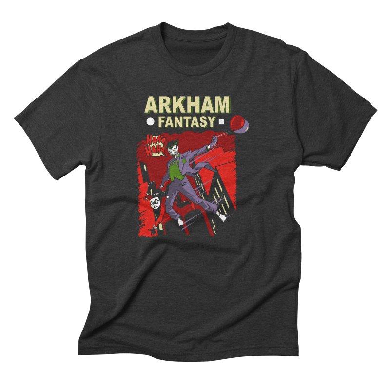 Arkham Fantasy  Men's Triblend T-shirt by foureyedesign's shop