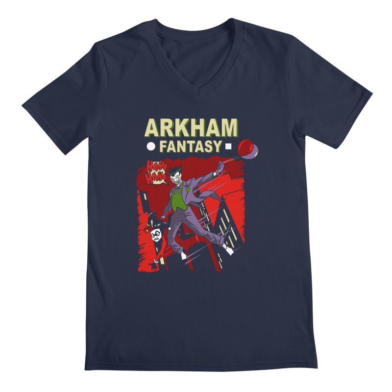 Arkham Fantasy  Men's V-Neck by foureyedesign's shop